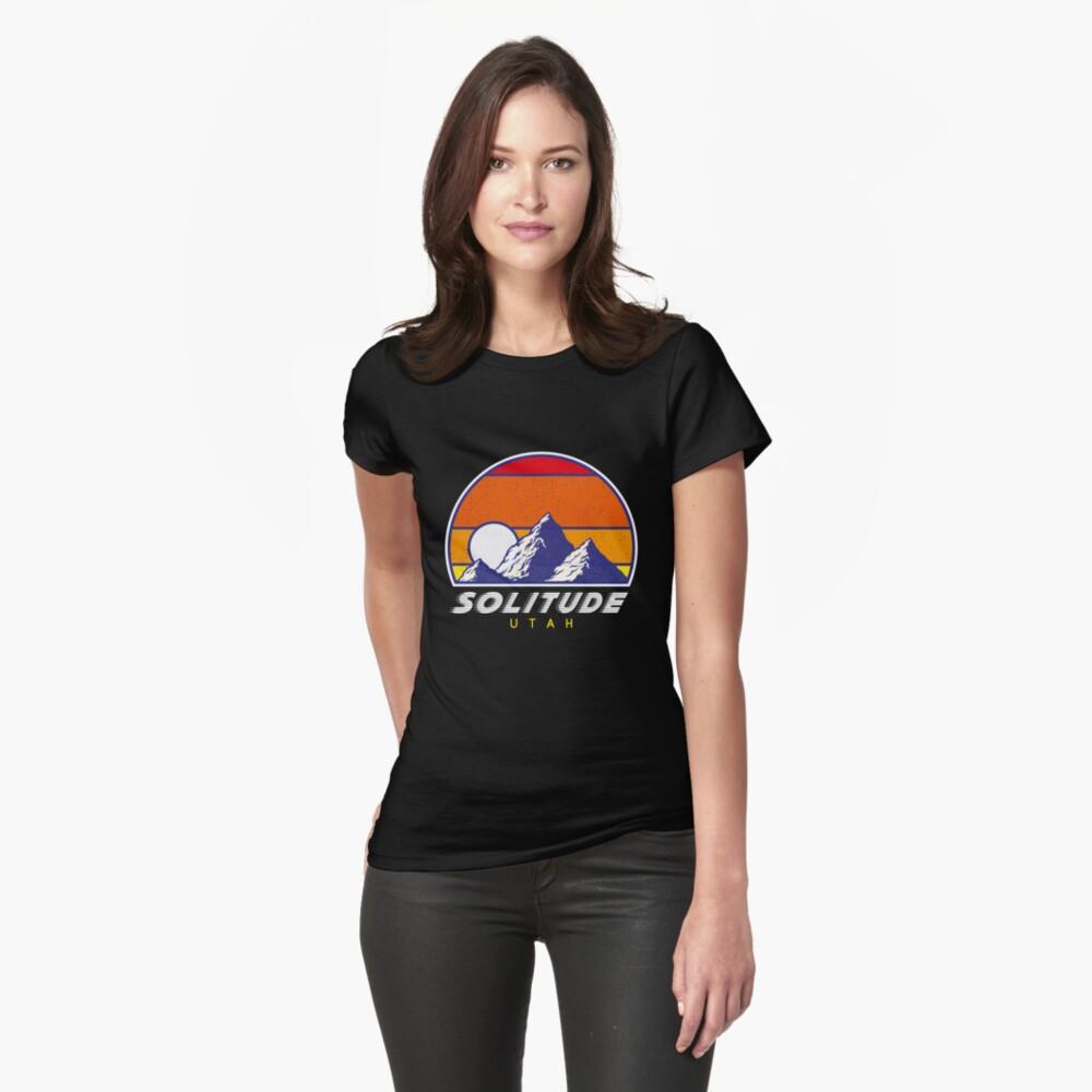 Einsamkeit Utah - USA Ski Resort 1980er Jahre Retro Kollektion Shirt Tailliertes T-Shirt