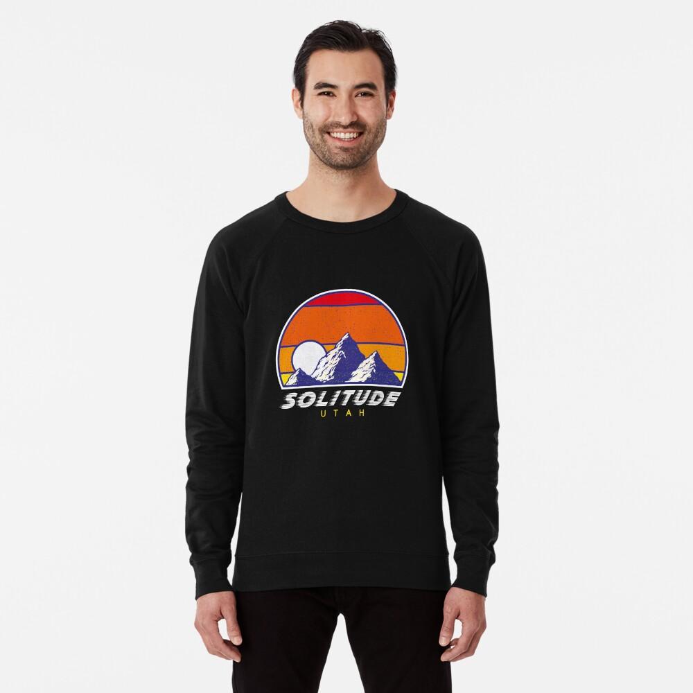 Einsamkeit Utah - USA Ski Resort 1980er Jahre Retro Kollektion Shirt Leichter Pullover