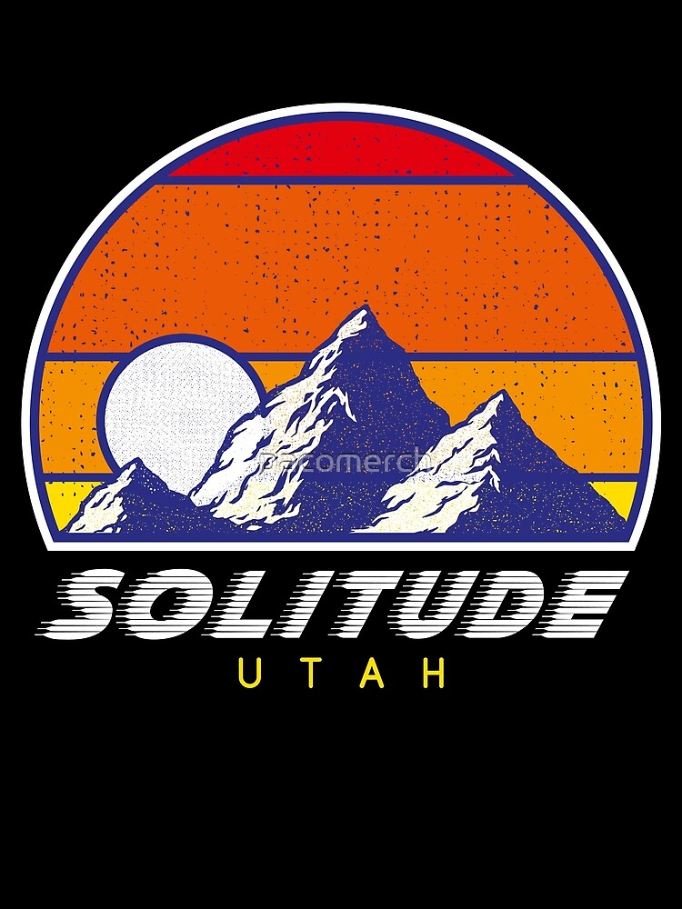 Einsamkeit Utah - USA Ski Resort 1980er Jahre Retro Kollektion Shirt von pacomerch