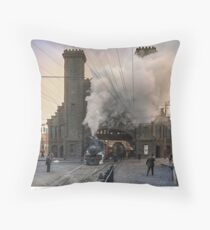 Boston and Maine Railroad depot, Salem ca 1910 Throw Pillow
