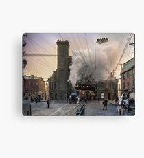 Boston and Maine Railroad depot, Salem ca 1910 Canvas Print