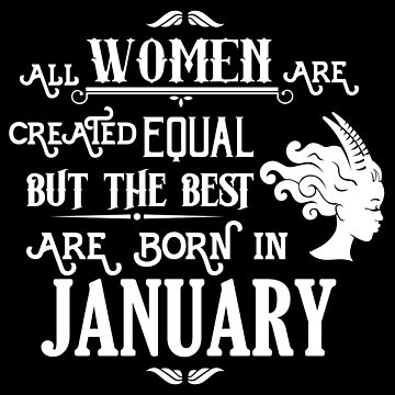 Women Born in January Capricorn Birthday Shirt by LarkDesigns