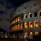 The Colosseum at Night by Peter  Daly