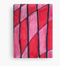 Red Knit Checkers Canvas Print