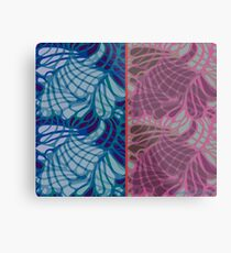 Blue and Purple Abstract Metal Print