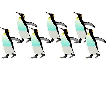 Penguins Marching Home  by HomeTimeArt