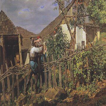 The neighbors-Ferdinand Georg Waldmüller by LexBauer
