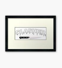 Slasher Horror Thrasher Parody T-Shirt Framed Print