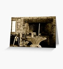 The Anvil of War Greeting Card