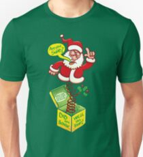 Santa Claus asking if you deserve a Christmas gift Unisex T-Shirt