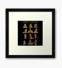 Character Faces Of Jericho Framed Print