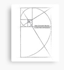 the golden ratio  Canvas Print
