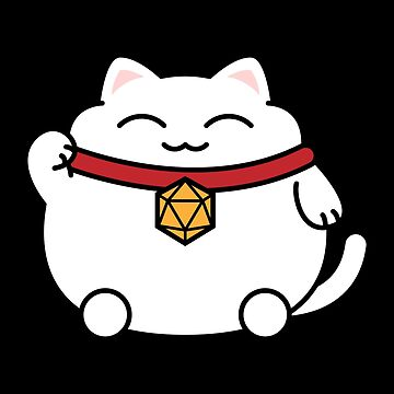 Cat with Polyhedral 20 Sided Dice Nerdy Cats Lover by pixeptional