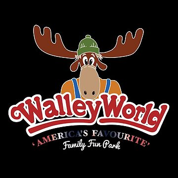 Walley World - America's Favourite Curved White Moose Logo by Purakushi