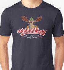 Walley World - America's Favourite Curved White Moose Logo Unisex T-Shirt