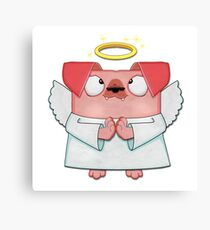 All Doggies go to heaven - Pink Canvas Print