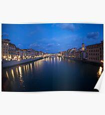 River Arno & Ponte Vecchio Poster