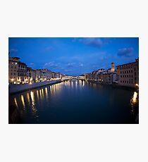River Arno & Ponte Vecchio Photographic Print