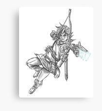 Link B&W Drawing  Canvas Print