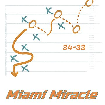 Miami Miracle Dolphins football Win T-Shirt by yellowpinko