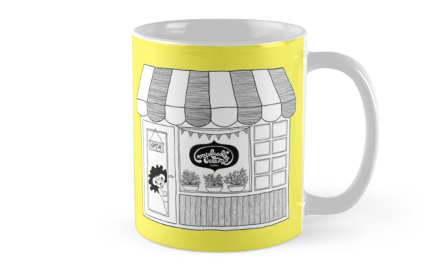 Doodle Illustration Artist Shop Front - Happy Yellow by mydoodlesateme