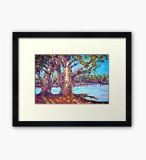 australian bush abstract landscape Framed Print