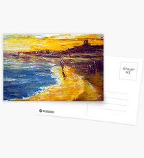 original oil painting Postcards