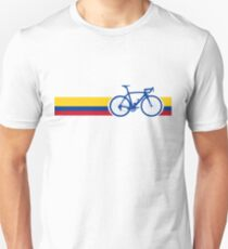 Bike Stripes Colombia National Road Race Slim Fit T-Shirt