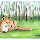 Fox in Berlin Forest by Meaghan Roberts