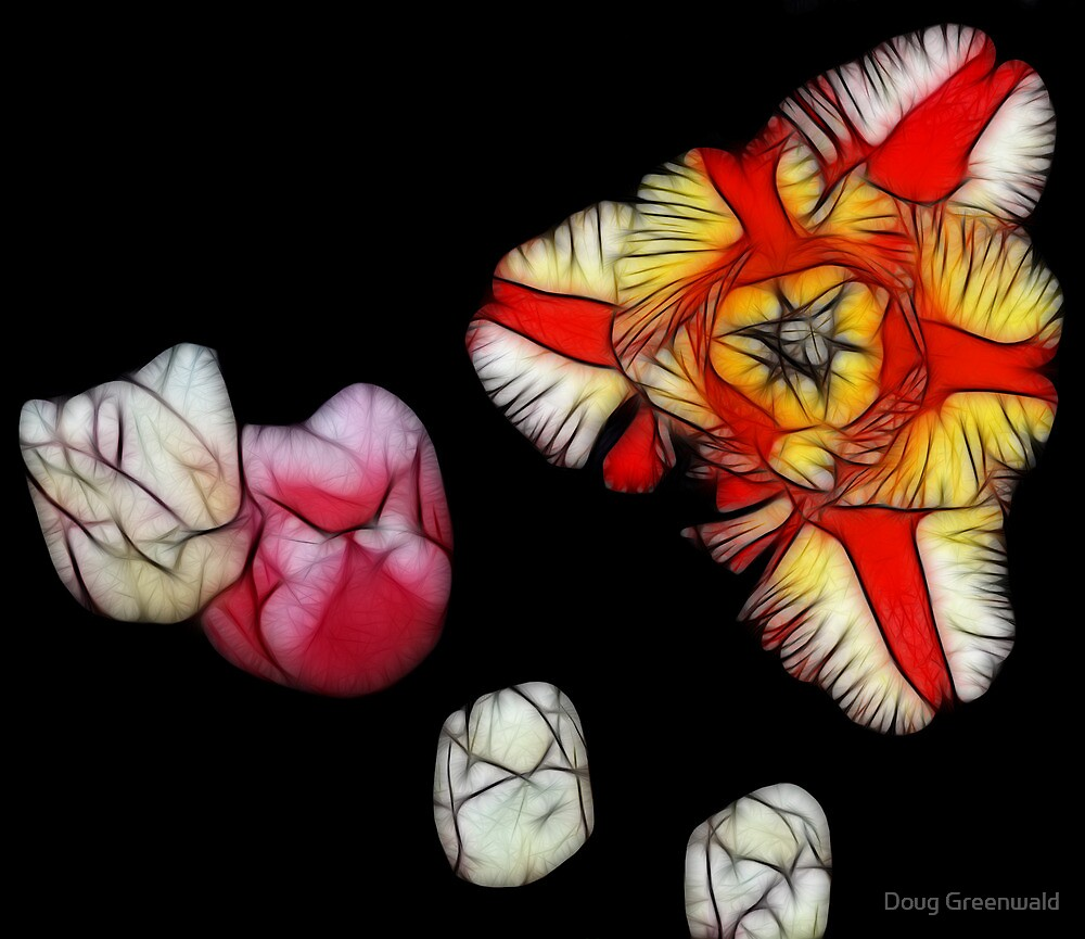 Stained Glass Tulips by Doug Greenwald