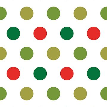 Christmas Polka Dots by YLGraphics