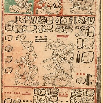 Dresden Codex, Maya, circa 11th or 12th century by TOMSREDBUBBLE
