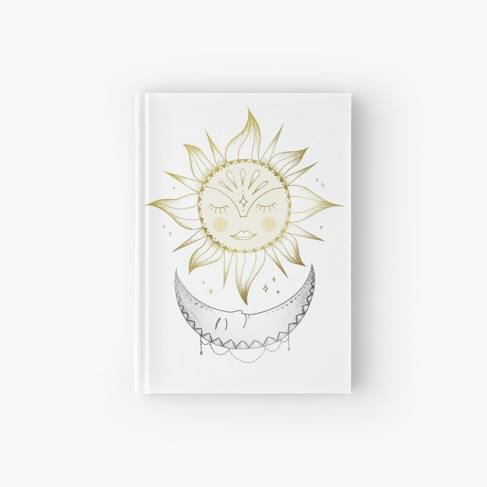 Sun and Moon Hardcover Journal