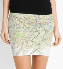 London Underground Geographical Map - Phone/Tablet Case, Poster, Sticker Mini Skirt