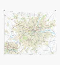 London Underground Geographical Map - Phone/Tablet Case, Poster, Sticker Wall Tapestry
