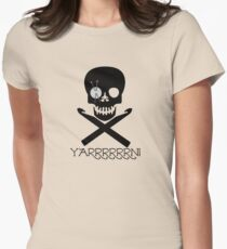 Skull and Hooks Women's Fitted T-Shirt