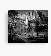 Upper Yosemite Falls in B&W Canvas Print