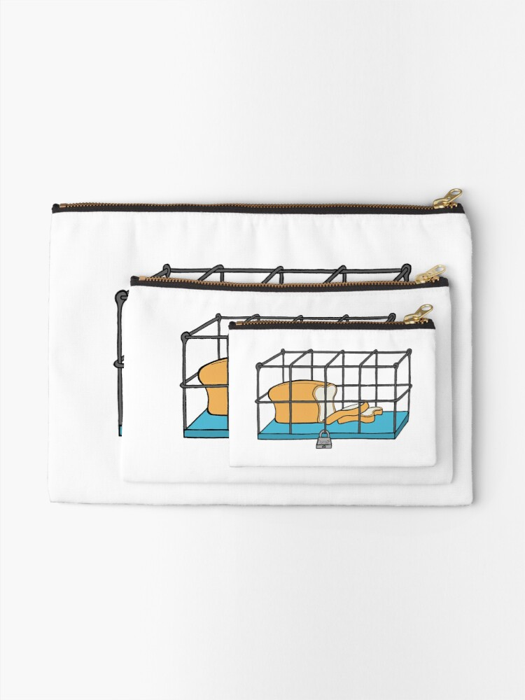 Alternate view of Bread in Captivity Zipper Pouch