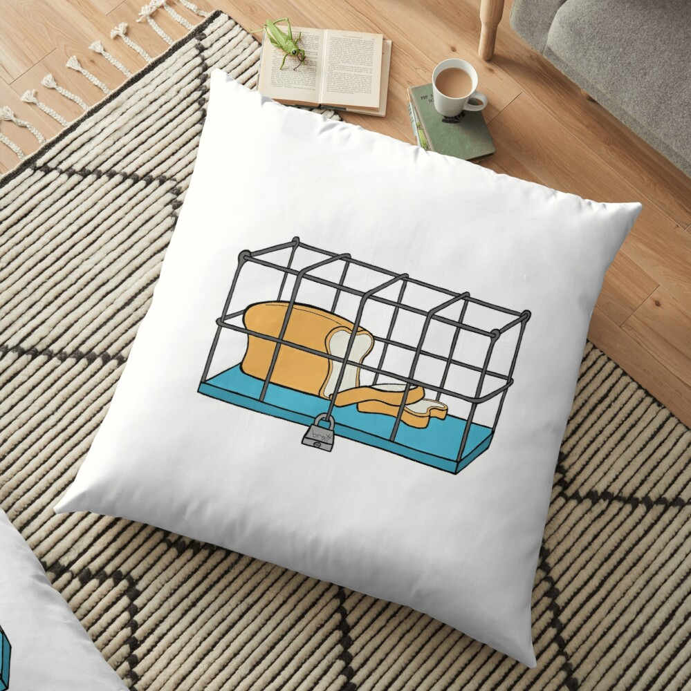 Bread in Captivity Floor Pillow
