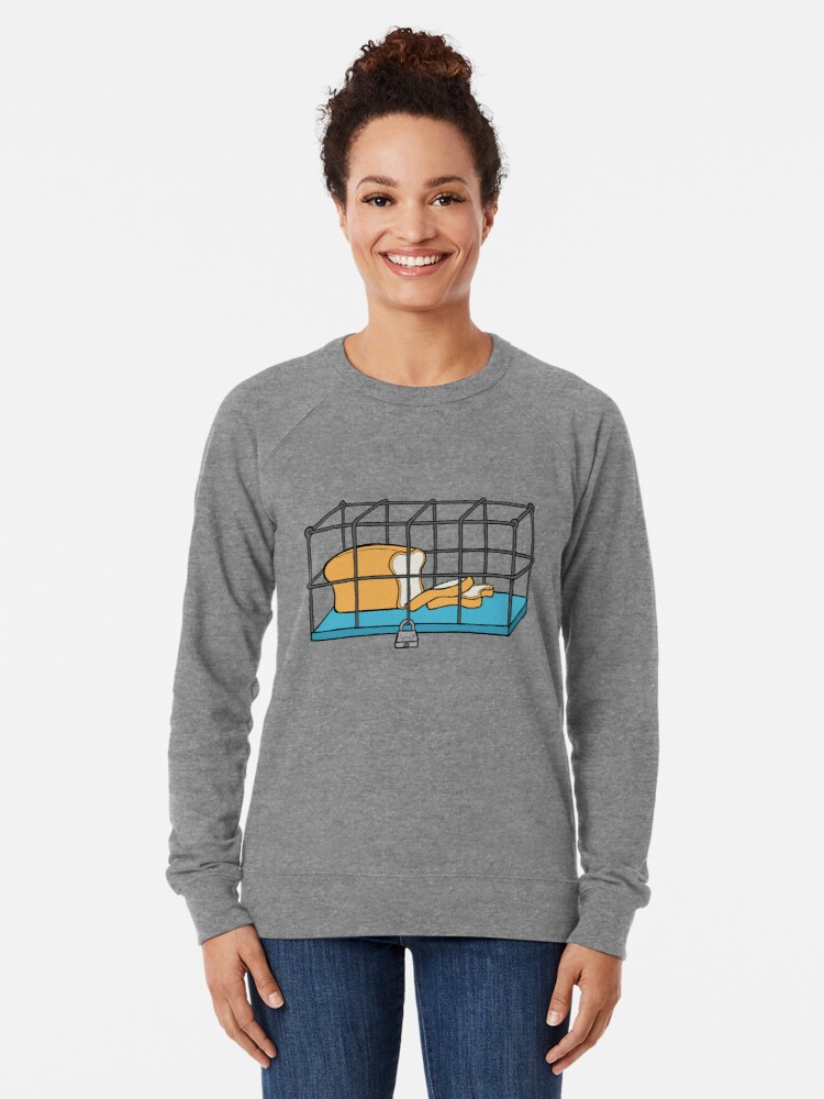 Alternate view of Bread in Captivity Lightweight Sweatshirt