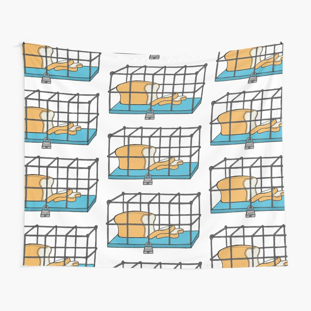 Bread in Captivity Wall Tapestry