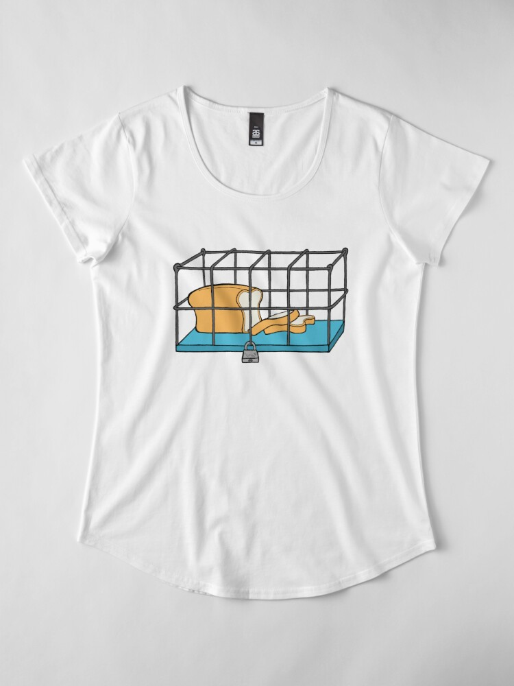 Alternate view of Bread in Captivity Premium Scoop T-Shirt