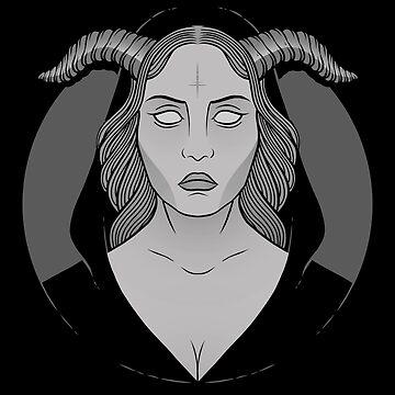 Okkultes Mädchen von deniart