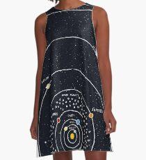 Vestido acampanado Sistema solar