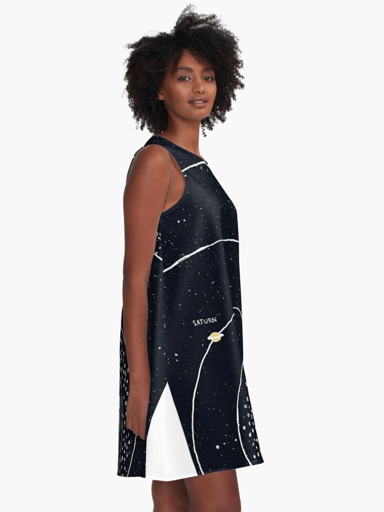 Alternate view of Solar System A-Line Dress