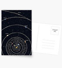 Sonnensystem Postkarten