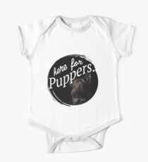 Here for the Puppers- Letterkenny Short Sleeve Baby One-Piece