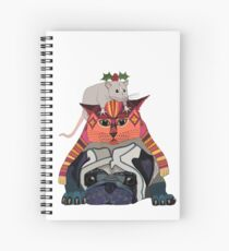 holly mouse cat pug Spiral Notebook