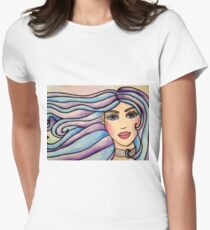 Lady Violet & Blue Womens Fitted T-Shirt