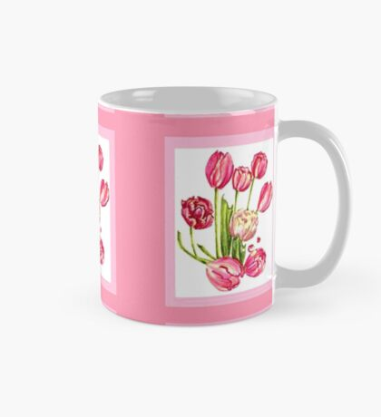 9 bunches of Pink Tulip Flowers by Kristie Hubler Mug